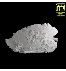 Placa Hoja Yeso Lcy - 33x18 - Elefante