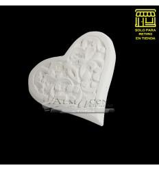 Placa Yeso Lcy - A - Corazon Labrado 18cm