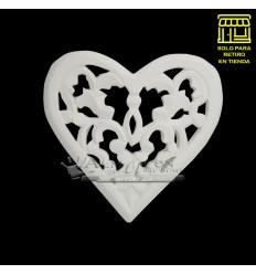 Placa Yeso Lcy - B - Corazon Calado 18cm