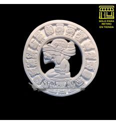 Placa Yeso Lcy - Calendario - Azteca / Maya